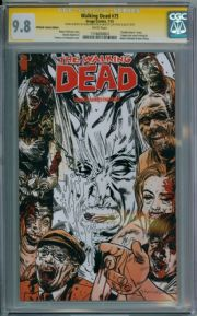 Walking Dead  #75 Ultimate Variant CGC 9.8  Signature Series Signed Kirkpatrick 2 x Sketch Image
